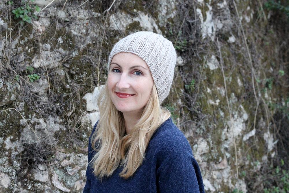 broken rib stitch knitted beanie