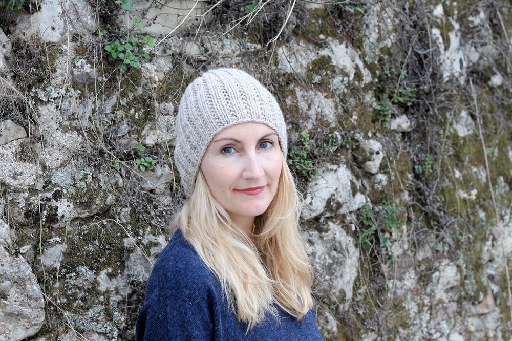 knitted broken rib stitch hat