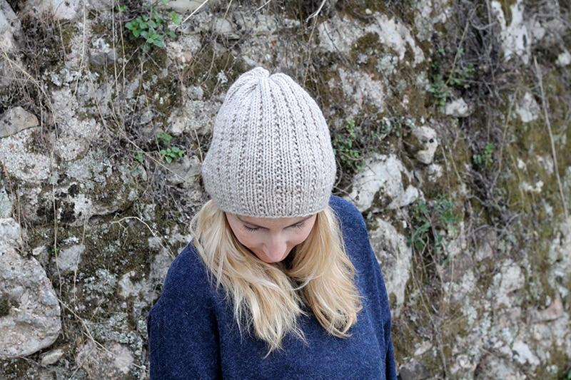 broken rib knitted beanie