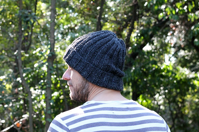 mens mariner hat with ribbing