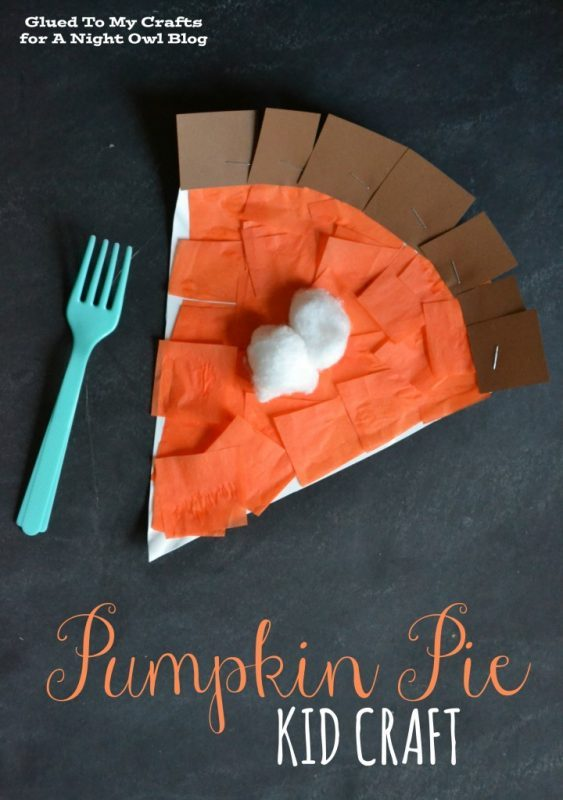 Pumpkin pie slice made from paper