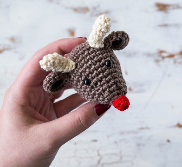 Crochet Rudolf Christmas ornament