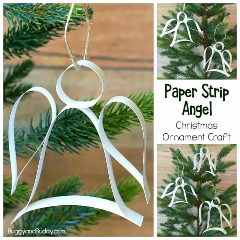 paper strip angel ornament craft