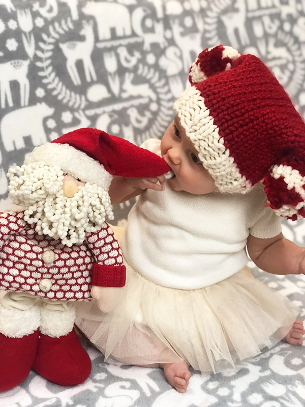 Baby holiday hat free pattern