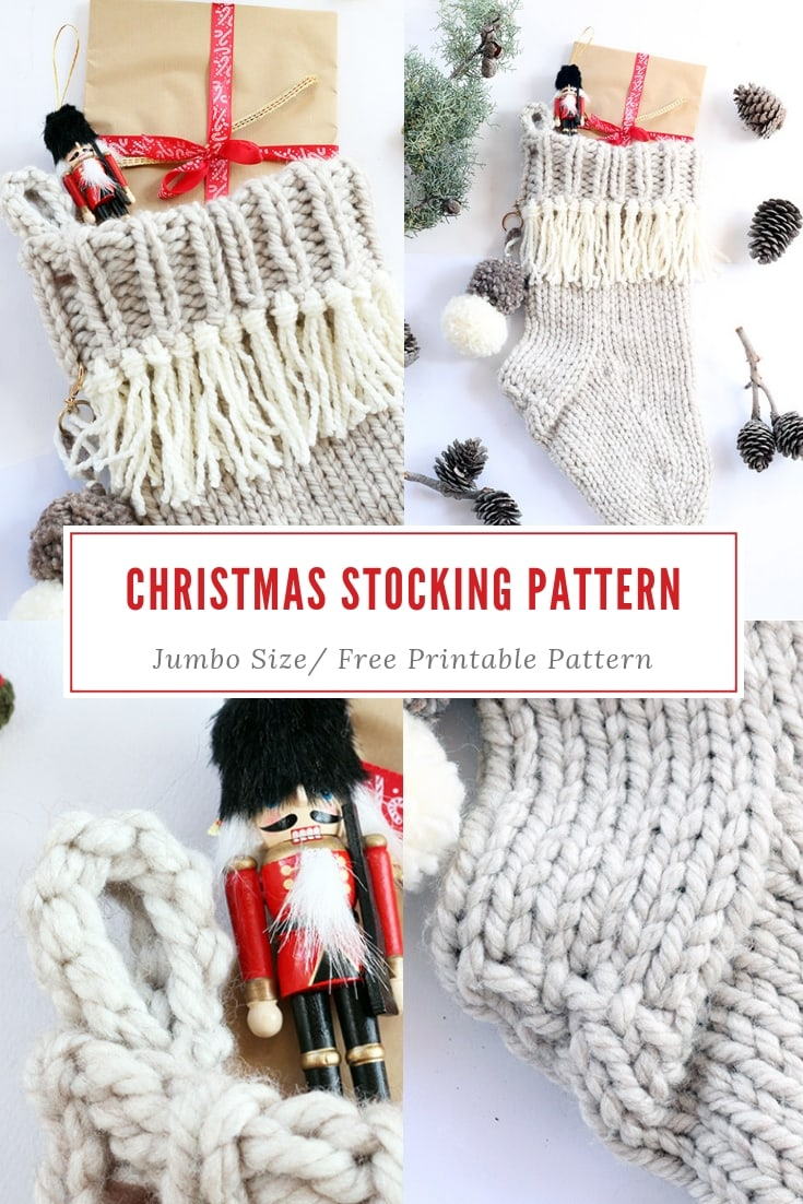 Christmas stocking knitting pattern free