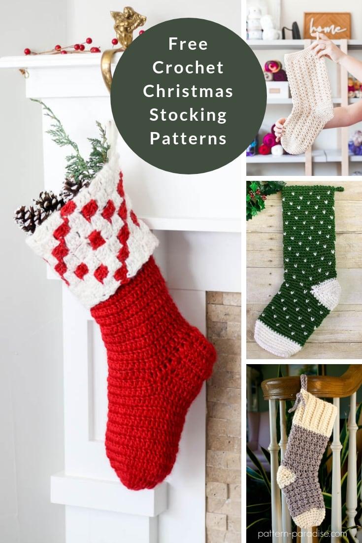 Crochet Christmas stocking pattern free