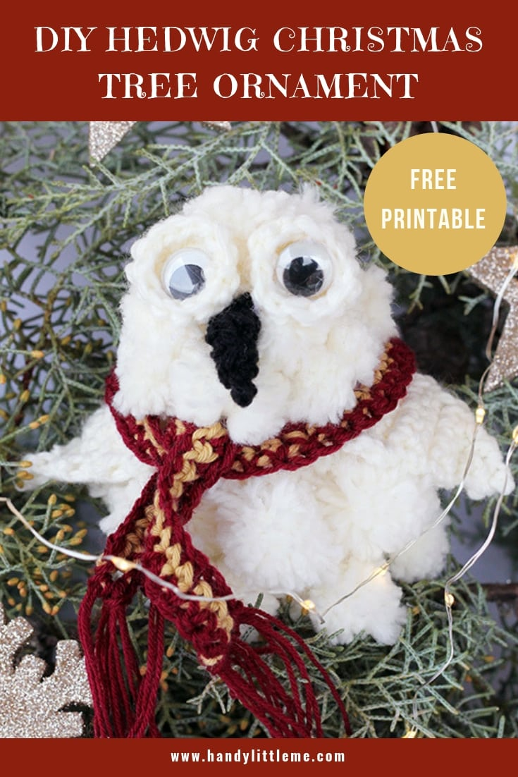 DIY Harry Potter Hedwig Christmas Ornament
