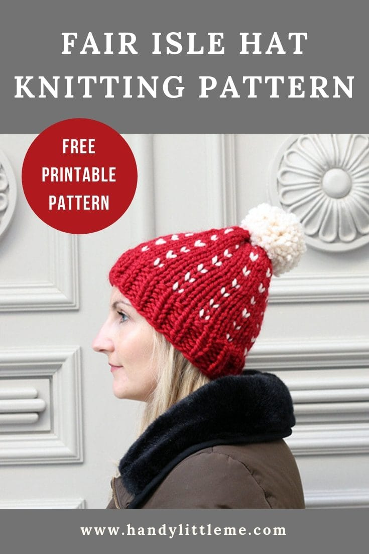 Fair Isle Hat Knitting Pattern