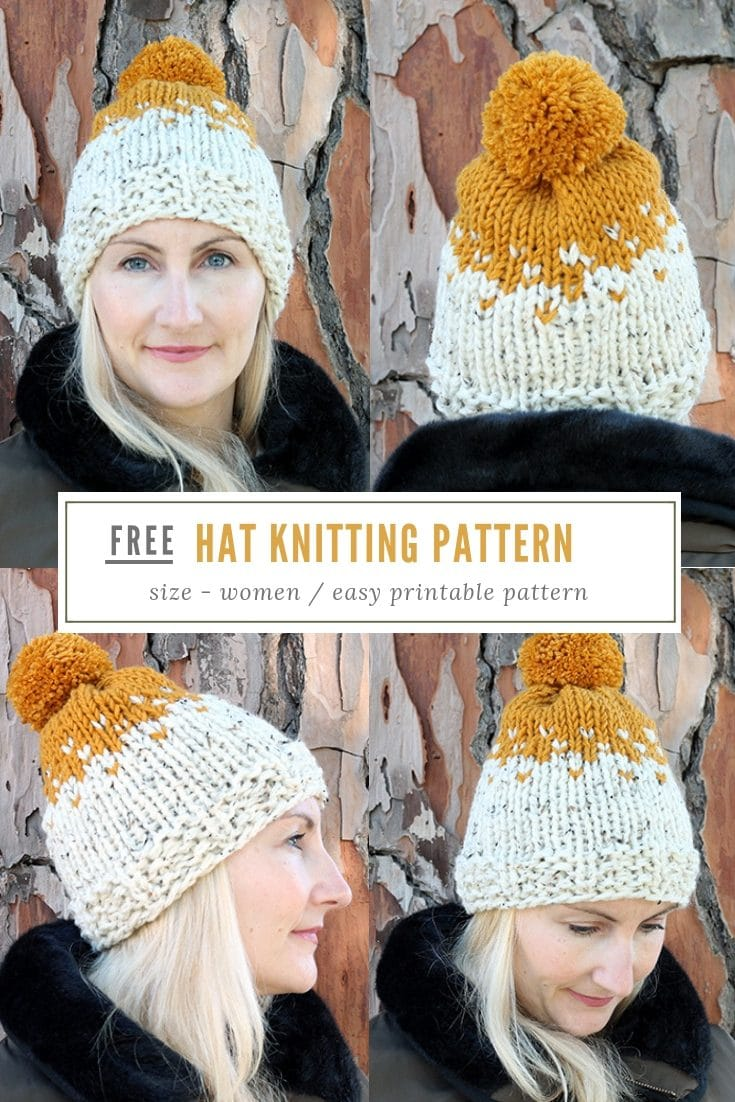 Knit Beanie Hat Pattern | The Willow