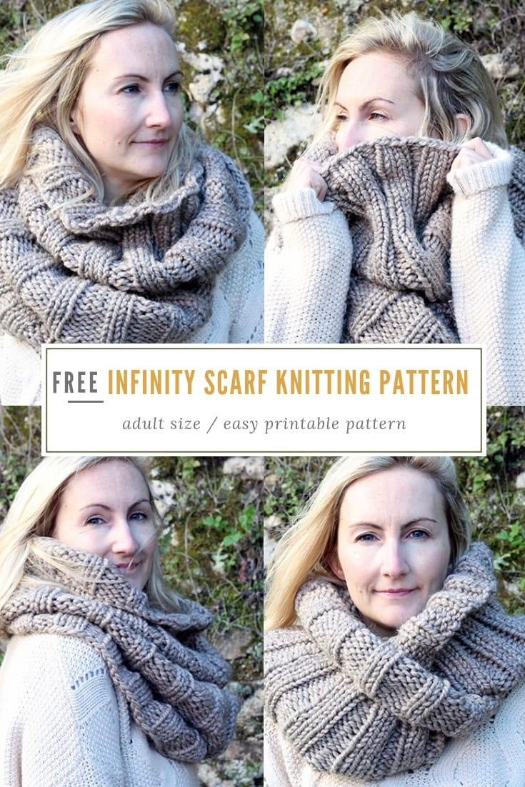Easy Infinity Scarf Pattern The Khione Free Knitting Patterns