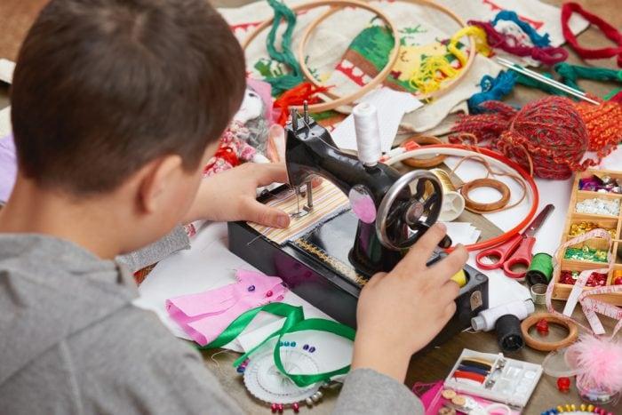 Teach children how to sew