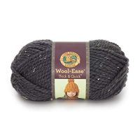 Lion  640-151 Wool-Ease Thick & Quick Yarn , 97 Meters, Graphite