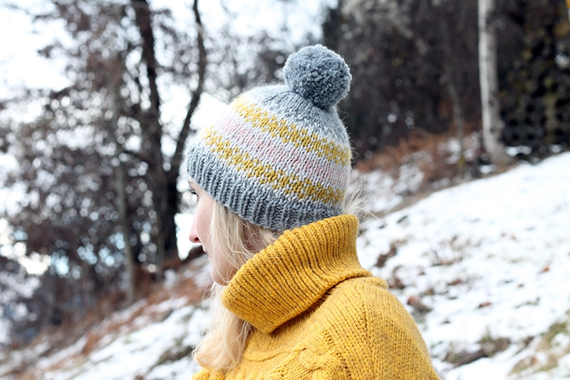 Fair Isle Knit Hat Pattern | Free Knitting Patterns | Handy