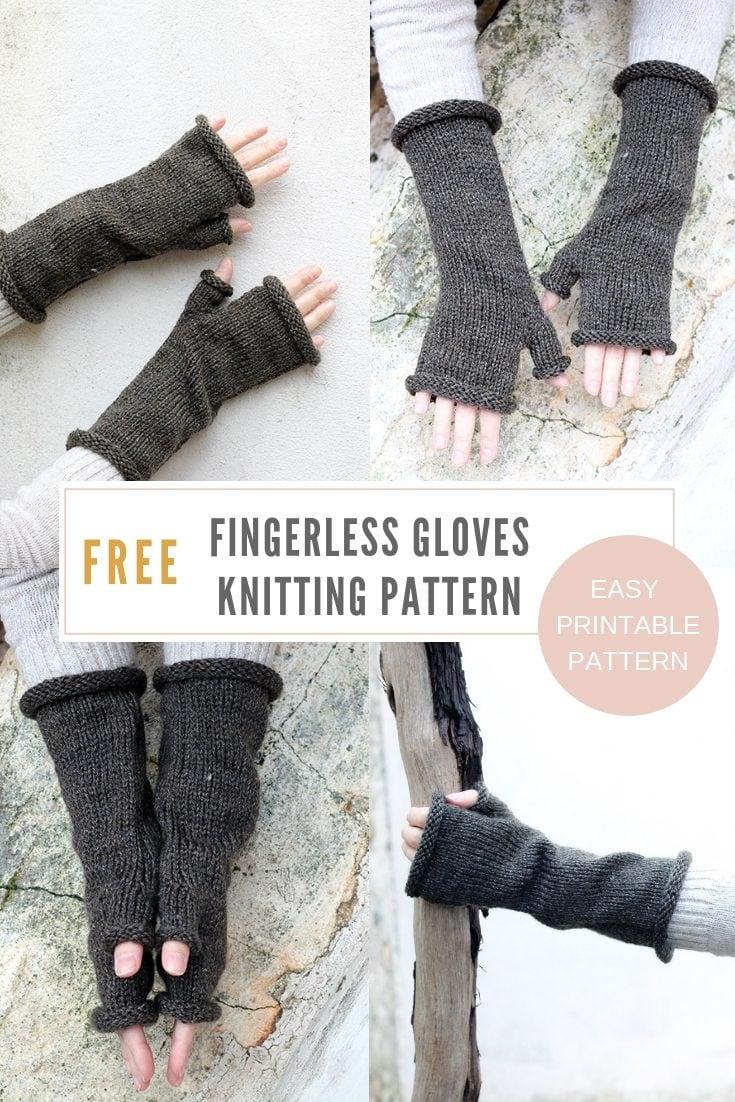 Outlander Fingerless Gloves Knitting Pattern