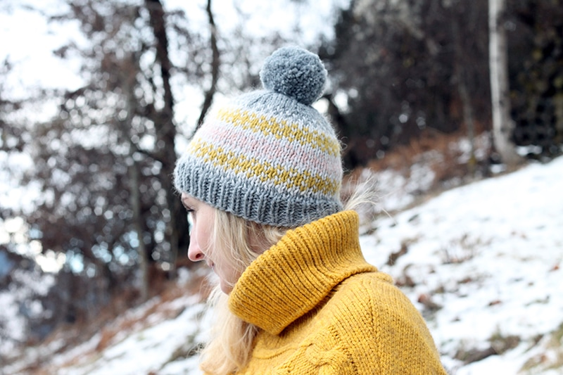 Free fair isle hat knitting pattern