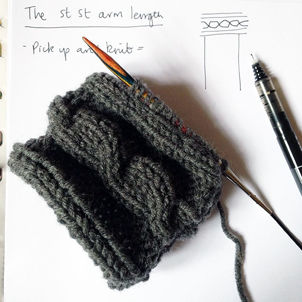 Cable knit arm warmers cuff tutorial