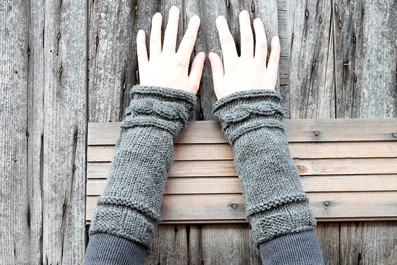 Claire from Outlander style knitted cuffs