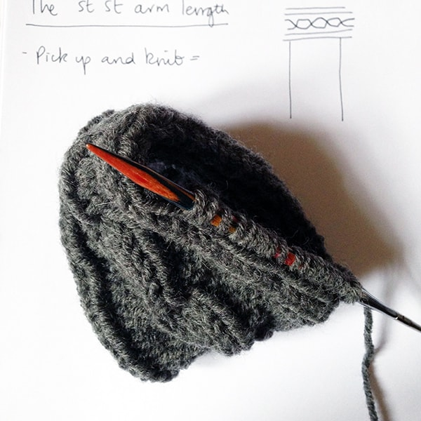 cable cuff tutorial picking up stitches