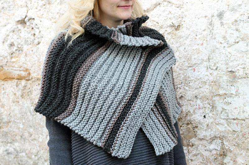 cross over knitted shrug