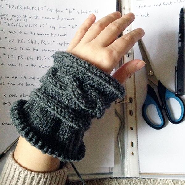 arm warmers in progress