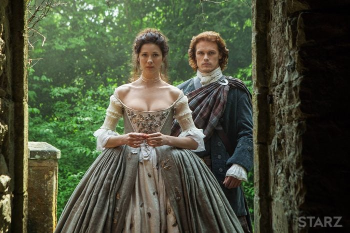 Claire and Jamie's wedding day on Outlander