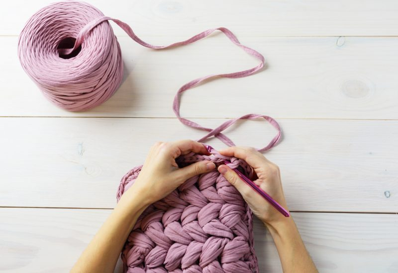 crocheting with tee shirt yarn