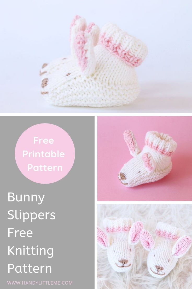 Bunny slippers free knitting pattern