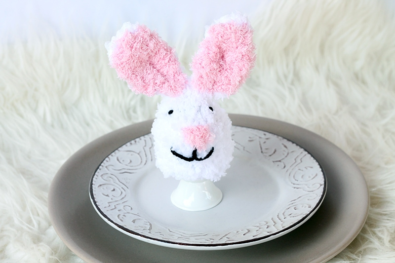 Bunny egg cosy with ears