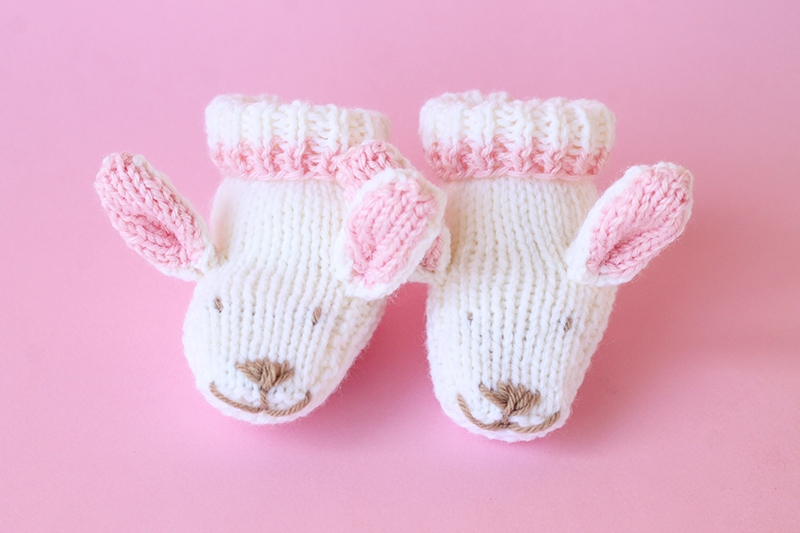Easter bunny slippers pattern