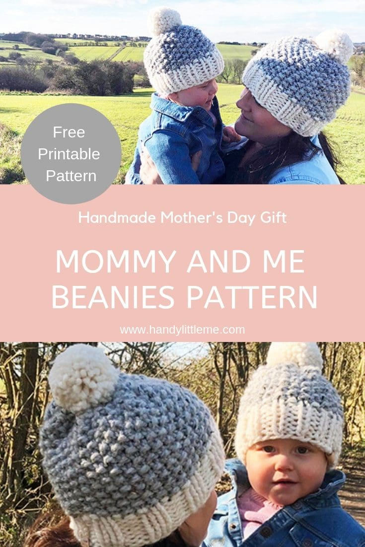 Mommy And Me Seed Stitch Beanies