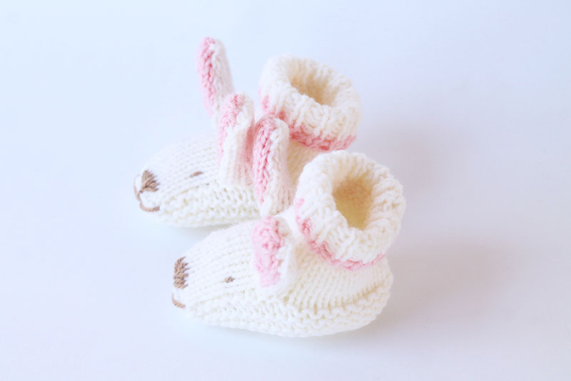 white bunny slippers for baby