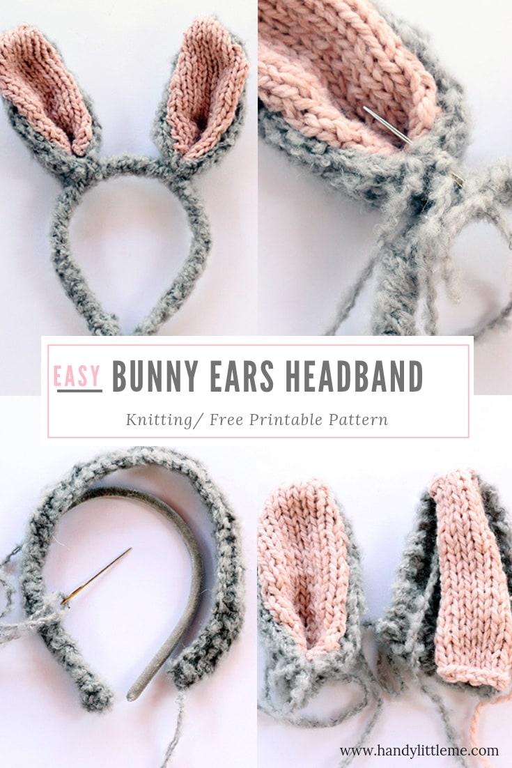 Bunny ears headband free pattern