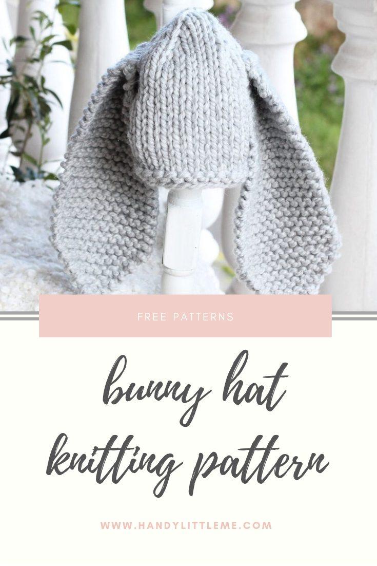 Baby Bunny Hat Knitting Pattern
