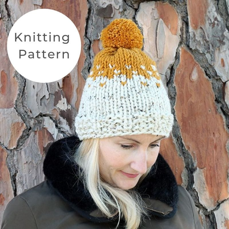 Stranded knitting hat pattern