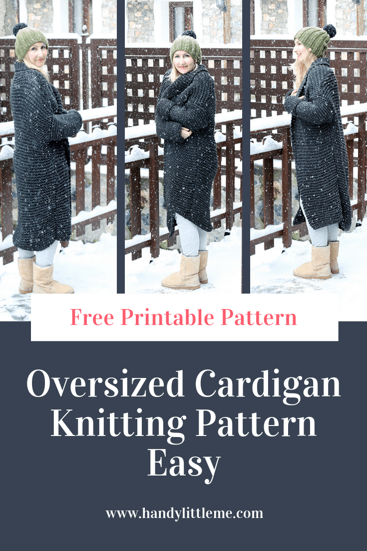 Chunky Knit Cardigan Pattern