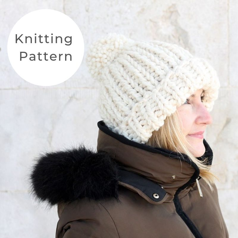 Chloe Kim style hat knitting pattern