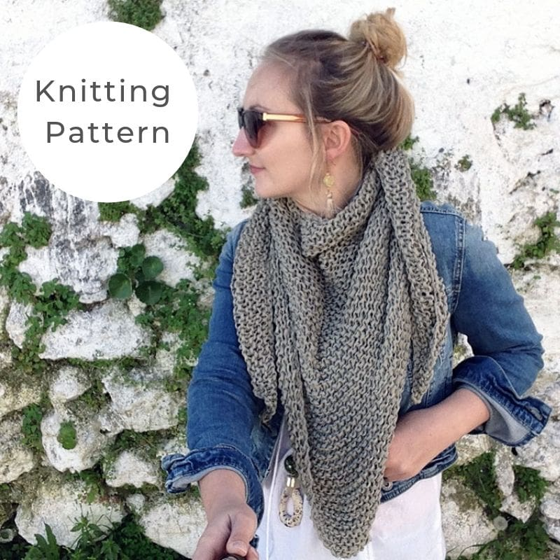 Triangle scarf knitting pattern