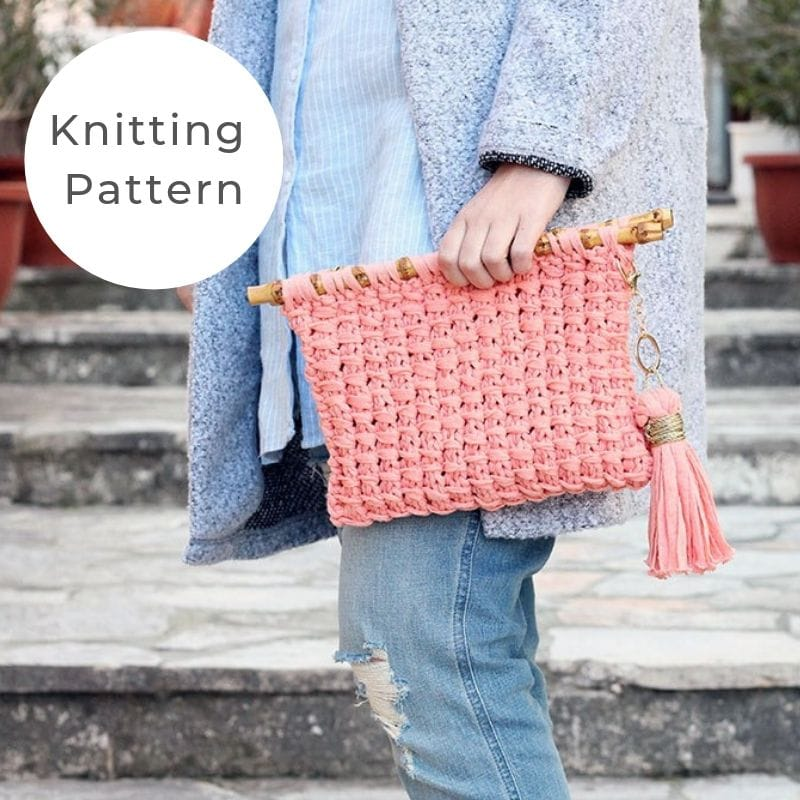 Clutch bag knitting pattern
