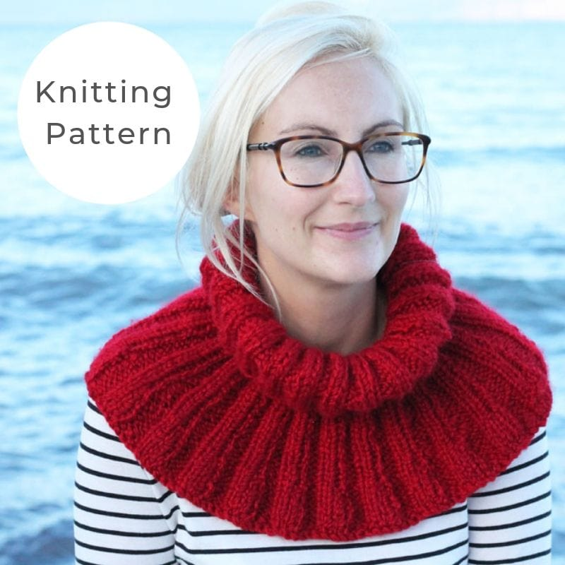 Ribbed cowl knitting pattern