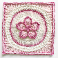 The Fab5Flower Square pattern by Joy Clements