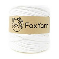 T-Shirt Yarn Cotton Fettuccini Zpagetti Highest Quality ~ 1.4 lbs (700g) and 140 Yard Long (~120 Meter) Sewing Knitting Crochet T Shirt Yarn (Off White)