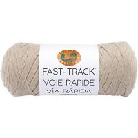 Lion Brand Yarn 521-122 Fast Track Yarn, Truckers Taupe