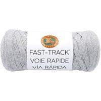 Lion Brand Yarn 521-149 Fast Track Yarn, Chopper Grey