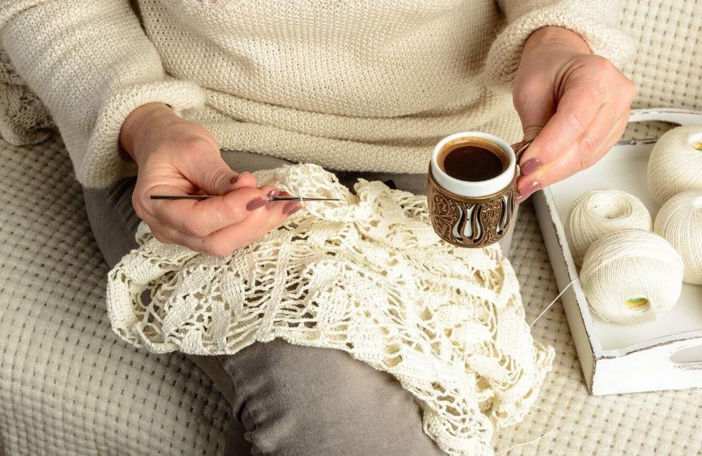 crocheting lace