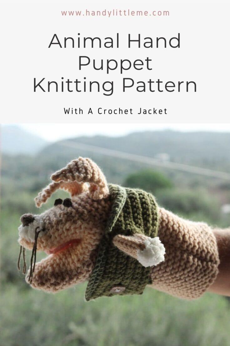 Animal hand puppet pattern