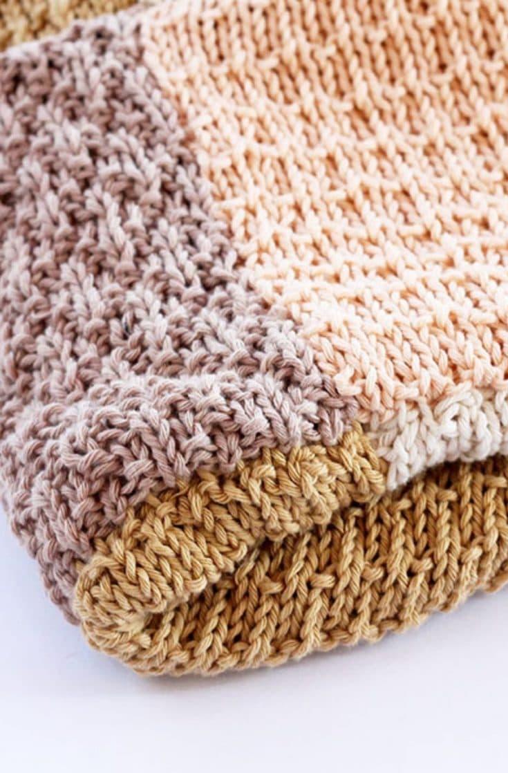Baby Blanket Pattern (Patchwork + 4 Stitch Patterns)
