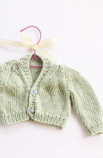 Baby Cardigan Pattern {Stockinette Stitch}