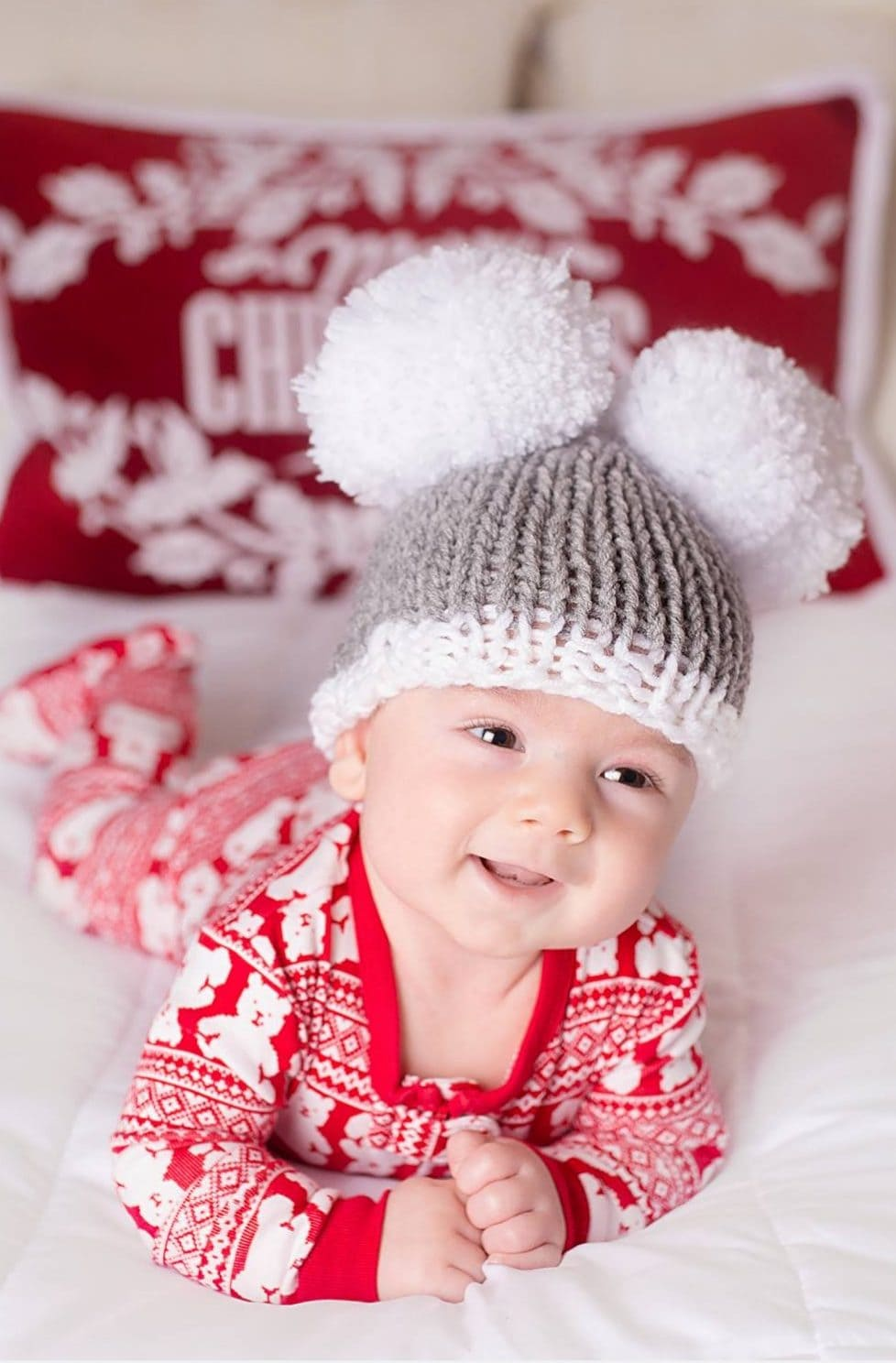 Holiday Hat For Baby Free Pattern