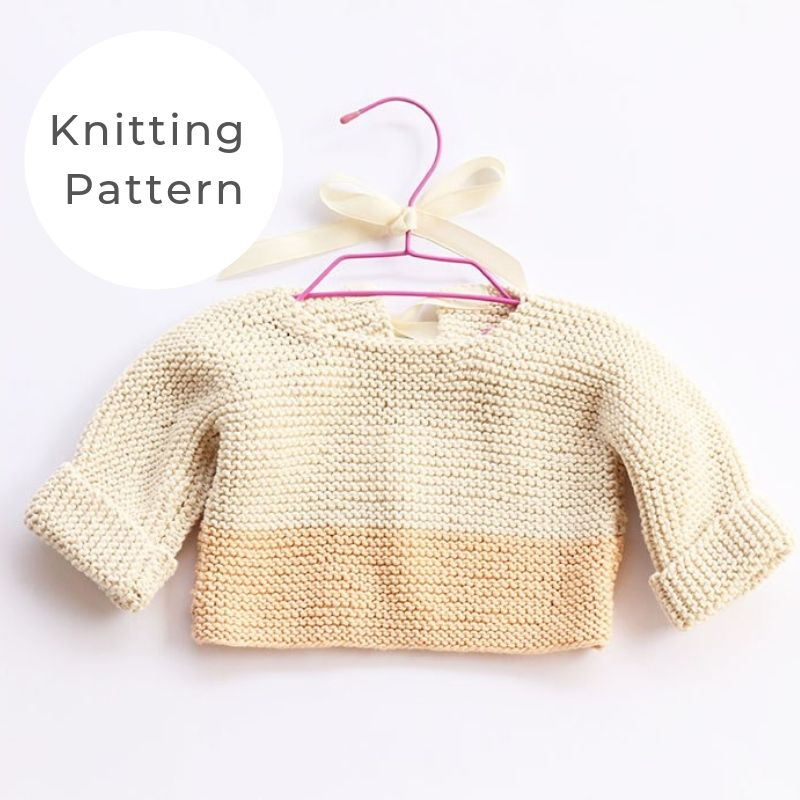 Baby sweater garter stitch