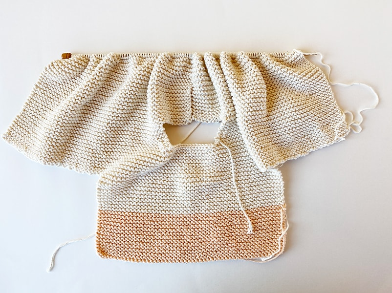 Baby sweater step 10